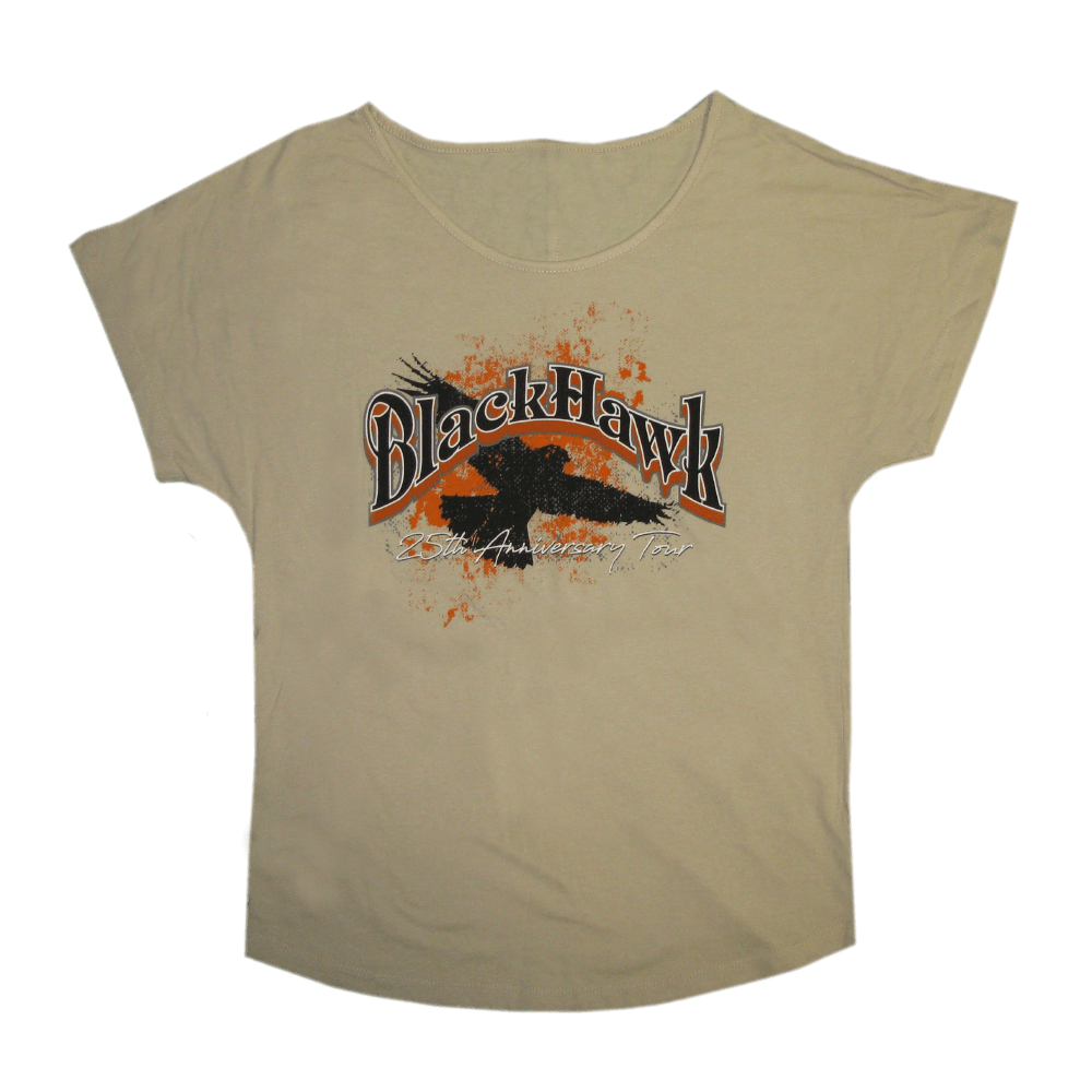 BlackHawk 25th Anniversary Ladies Tan Tee