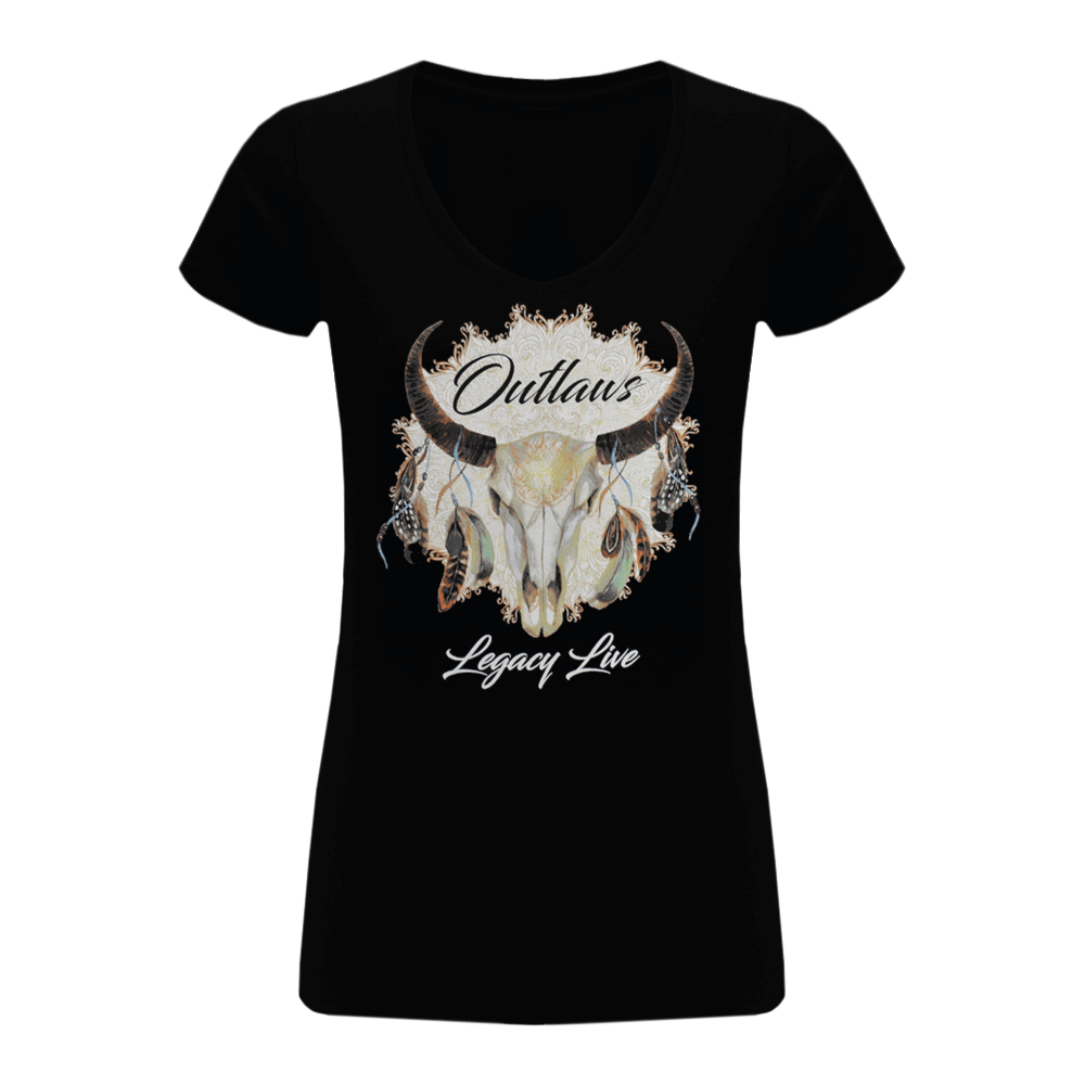Outlaws Legacy Live Ladies V-Neck