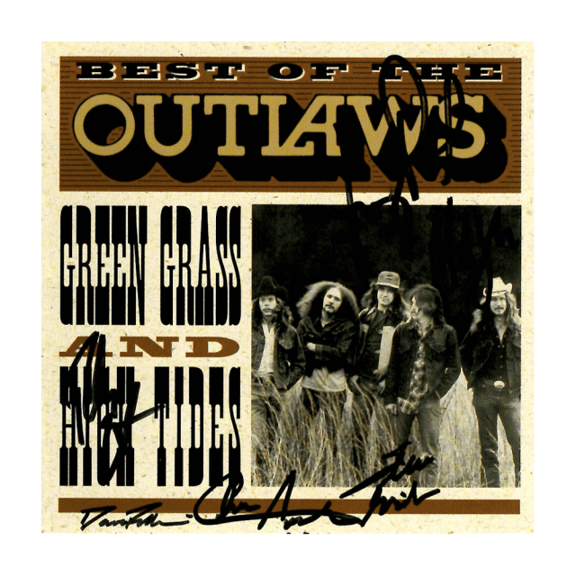 "Outlaws ""Best of Green Grass and High Tides"" Autographed CD"