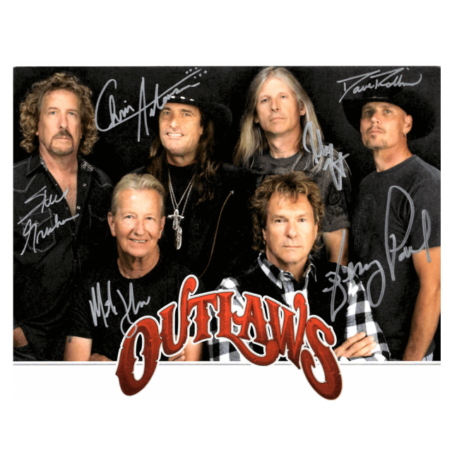 Outlaws Autographed Photo
