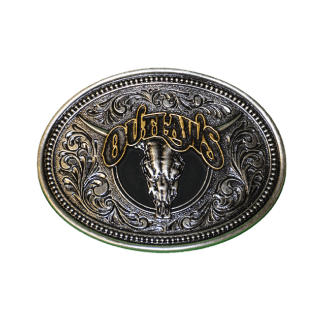 Outlaws Montana Silversmith Belt Buckle
